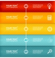Timeline Infographic Colorful Template vector image vector image
