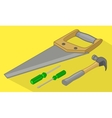 Tools isometric flat 3d vector image vector image