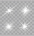 transparent sunlight lens flare light effect star vector image vector image