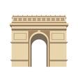 Triumphal Arch Paris vector image