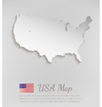 USA map white card paper 3D vector image