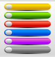 vibrant web buttons with gray elements vector image vector image
