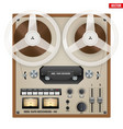 Vintage Analog Reel Tape Recorder vector image vector image