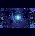 virus epidemic 2020 poster coronavirus vector image vector image