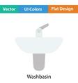 Wash basin icon vector image vector image