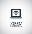 wifi laptop icon vector image vector image