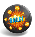Word sale on explosion clouds vector image vector image
