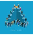 Career ladder with people vector image