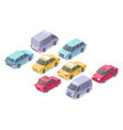 isometric cars isolated icons vector image