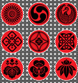 japan ornament elements vector image
