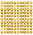 100 loans icons set gold