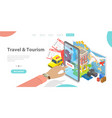 3d isometric flat landing page template vector image vector image