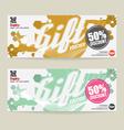 50 Percent Discount Voucher Modern Template Design vector image