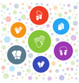 7 gloves icons vector image vector image