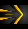 abstract black orange corporate tech background vector image vector image