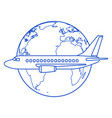 aeroplane and globe contour