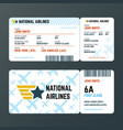 airplane flight boarding pass ticket isolated vector image vector image