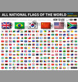 all official national flags of the world old vector image