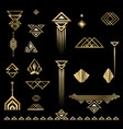 art deco set of objects vector image vector image