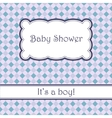 Background with plaid baby shower vector image