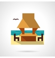 Beach gazebo flat color design icon vector image vector image
