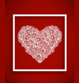 beaytiful bright heart vector image vector image