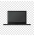 black modern laptop mockup realistic style vector image vector image