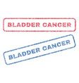 bladder cancer textile stamps vector image vector image