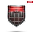 Bright shield in the ice hockey helmet inside vector image vector image