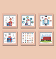 bundle delivery service designs with icons vector image vector image