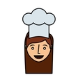 chef avatar character icon vector image vector image