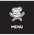 chef menu design vector image vector image