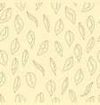 contours leaves seamless pattern autumn vector image
