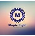 dark flower style geometric monogram logo vector image vector image