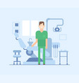 dentist at work - modern flat design style vector image
