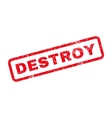 Destroy Text Rubber Stamp