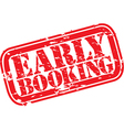 Early booking stamp vector image vector image