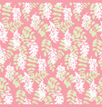 Elegant seamless pattern with white flowers