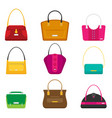 fashion bags set isolated flat design vector image vector image