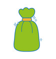 garbage bag object with biodegradable trash vector image