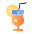 glass of lemonade flat icon fresh drink color vector image vector image