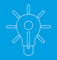 glowing light bulb icon outline vector image vector image
