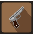Gun icon in flat style vector image vector image