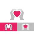 Heart care vector image vector image