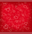 hearts texture red background vector image
