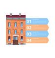 hotel services diagram icon vector image vector image