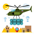 humanitarian aid in a war zone flat style vector image