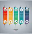 infographic concept with 5 vertical tabs vector image