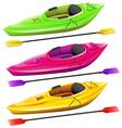 Kayaks vector image
