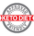 keto diet friendly sign keto diet friendly badge vector image vector image
